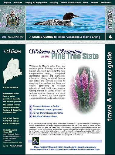 Maine Travel Guide, Maine Vacations Guide, Maine Living Guide