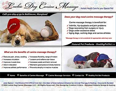 Dog Massage Therapy in the Greater Baltimore Maryland Area