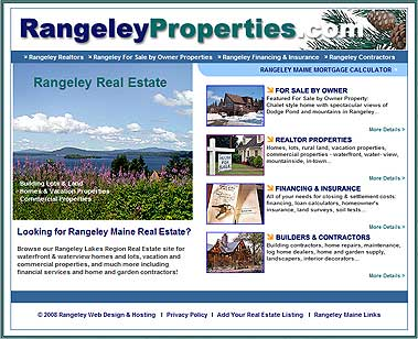 Rangeley Lakes Region Real Estate, Realtors, and For Sale by Owner Properties